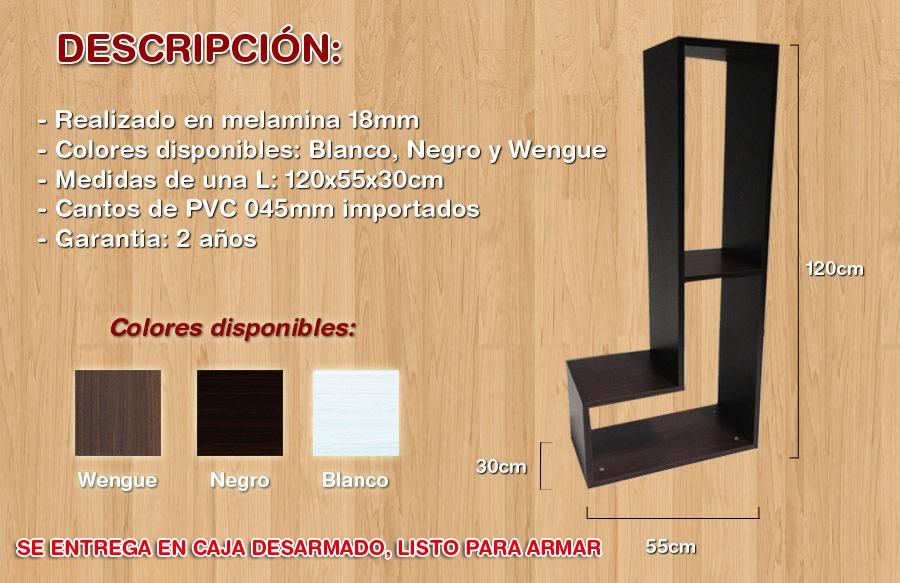 Mesa de tv lcd modular rack modulo l centros de - Muebles bonitos sl ...